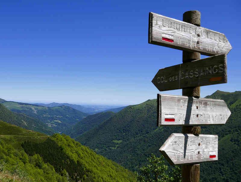 Schilderpfosten in der Ariège