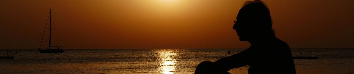 Sonnenaufgang am Strand von Banyuls