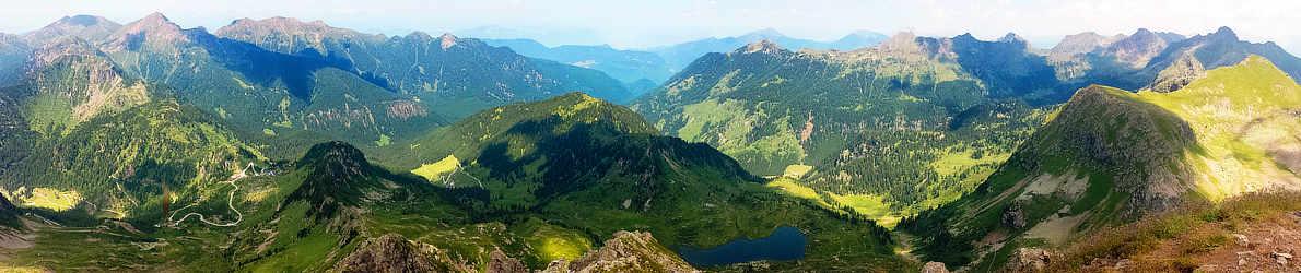 Panoramablick vom Monte Ziolera nordwärts