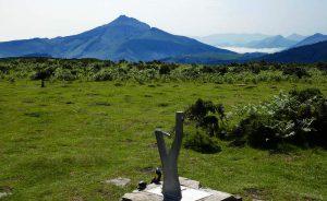 Blick vom Xoldokogaina auf den La Rhune