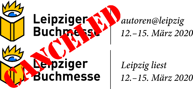 Logo Leipziger Buchmesse, cancelled
