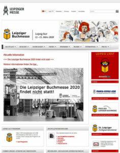 Die Leipziger Buchmesse fiel 2020 aus