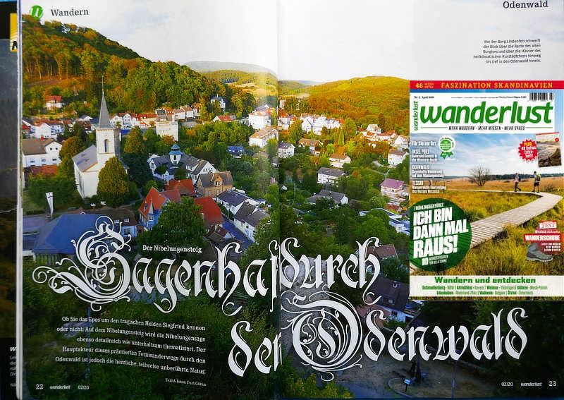 Mein Nibelungensteig-Artikel im Wanderlust-Heft Nr. 2/2020