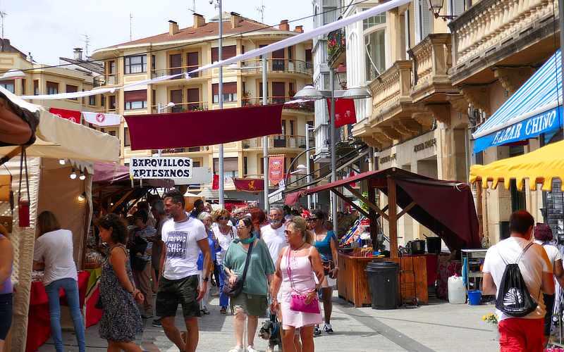 Wochenmarkt in Irún, der spanischen Nachbarstadt von Hendaye