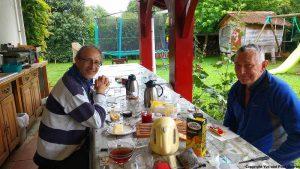 Paul aus Australien und ich im Gîte d'étape in Olhette